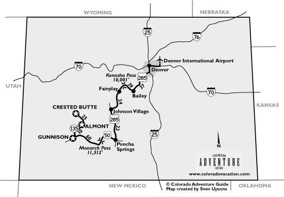 Gunnison Almont Crested Butte Colorado Maps