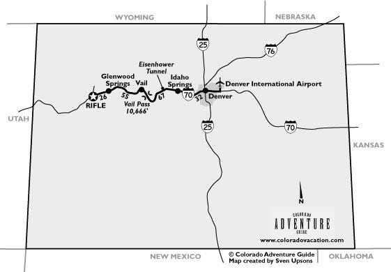Rifle Colorado Travel Maps